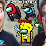 MrBeast 900 IQ VS 100 Players Dream Team in Among us animation chat memes song gameplay live vr trai - YouTube