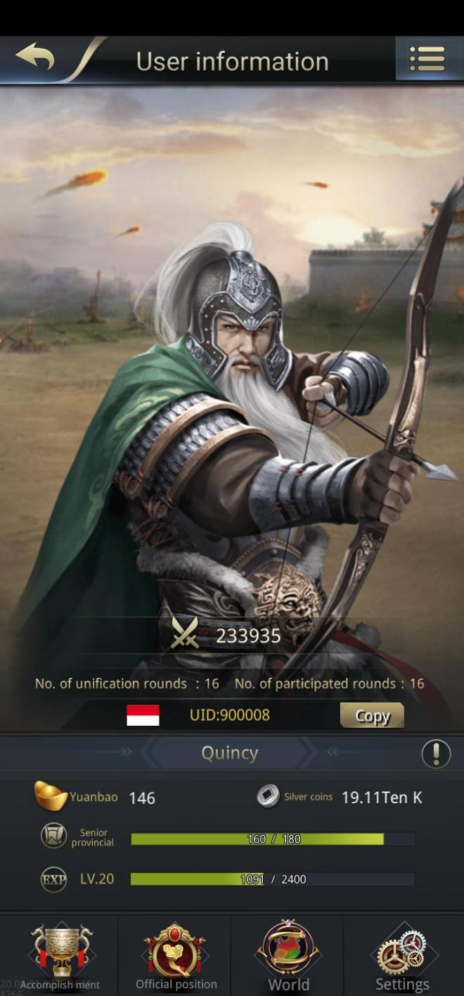 Three Kingdoms RESIZING: Limited General Board [Huang Zhong], END - Quincy/900008/hi, Old man appeared  image 1