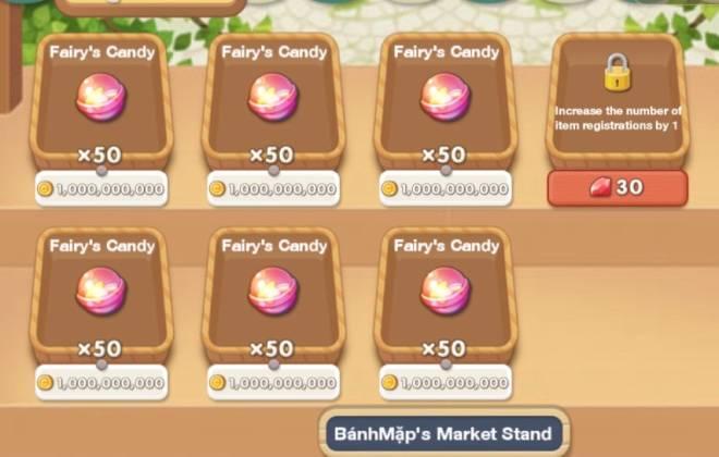 My Secret Bistro: ● Open Forum - Buy 1 set candy get 60nmats. Select mat u need. Ing: BánhMặp  image 1
