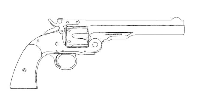 Red Dead Redemption: General - A Schofield Revolver (some lines are sloppy I drew it at night) image 1
