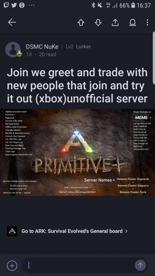 ARK: Survival Evolved: General - Ark primitive plus unofficial server  image 1