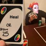 This is one scary uno card ...
