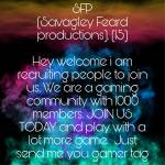 JOIN US TODAY AND PLAY WITH HUNDREDS OF GAMERS
