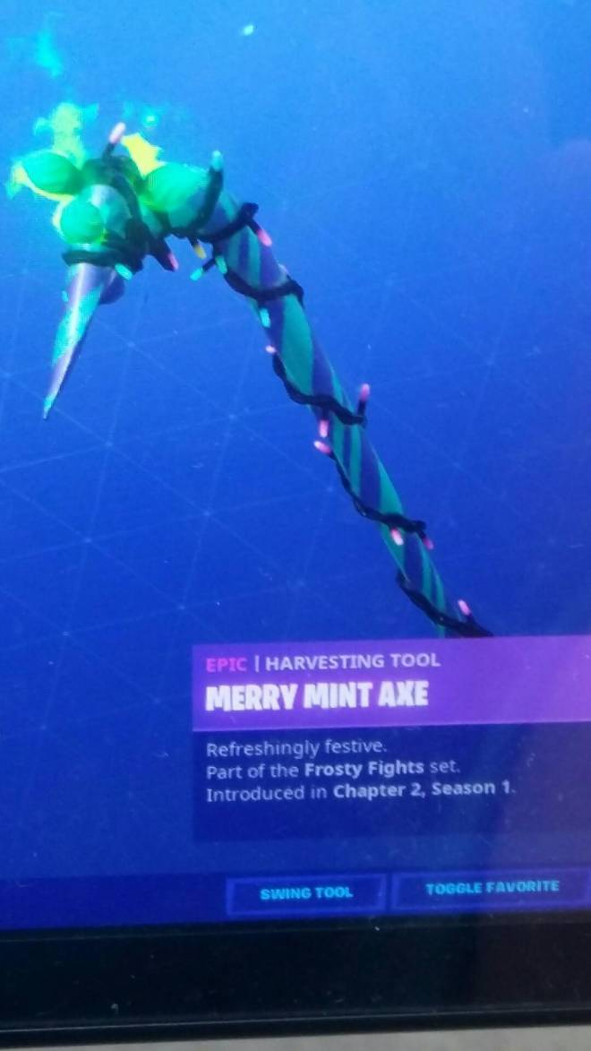 Fortnite: Battle Royale - I got merry mint axe image 1