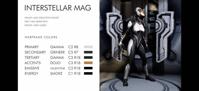Warframe: General - Interstellar Mag is the best fashion frame for me she is just so clean image 2