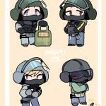 GSG9 Operators as Chibis!