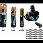 Batteries comparation