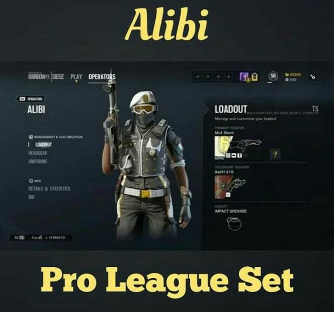 Rainbow Six Siege All Pro League Skins