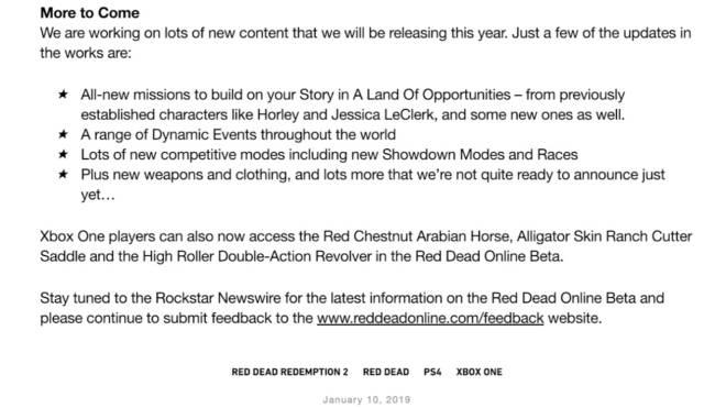 Red Dead Redemption: General - *NEW* RDR2 Online Update info! image 6