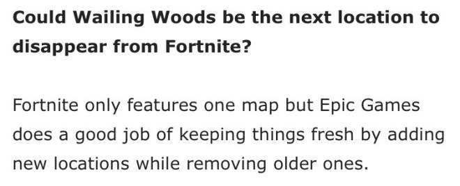 Fortnite: Battle Royale - Wailing Woods Might Be Next... image 1