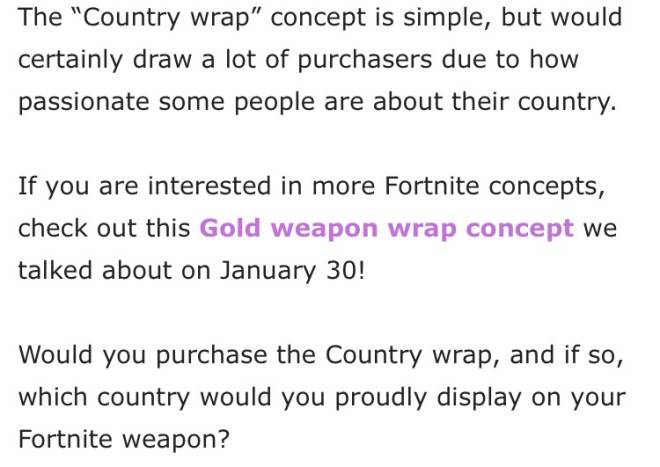 Fortnite: Battle Royale - Nationality Gun Wrap Concept 🇺🇸🇨🇦🇮🇸 image 6