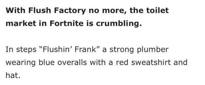 Fortnite: Battle Royale - Flushin' Frank Concept image 3