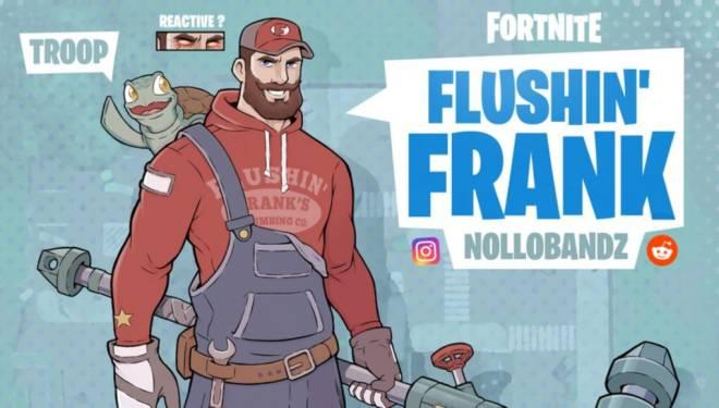 Fortnite: Battle Royale - Flushin' Frank Concept image 2
