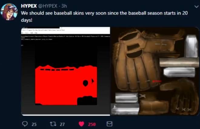 Fortnite: Battle Royale - Leaks Hinting Towards Baseball Skins ⚾️  image 2