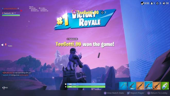 Fortnite: Battle Royale - Caught a couple of back to back dubs with Da Big 64 ❤️✨💪 image 3