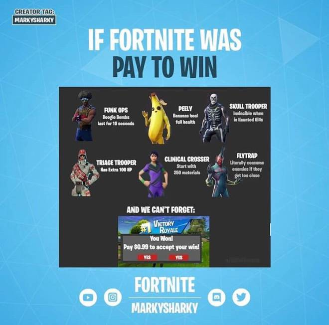 Fortnite: Memes - If Fortnite was PayToWin😂😂 image 1
