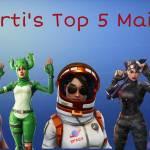 Carti's Top 5 Main Skins ✨