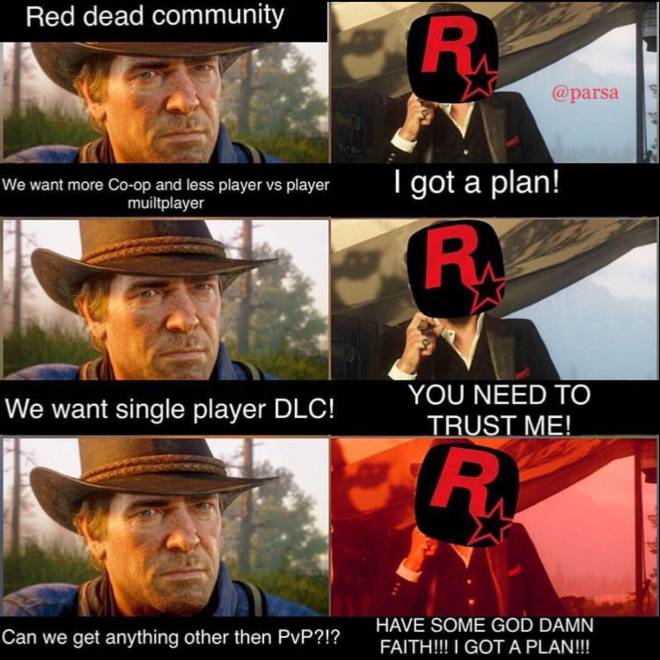Red Dead Redemption: Memes - R* are becoming the equivalent of Dutch 🤦🏻‍♂️ image 1