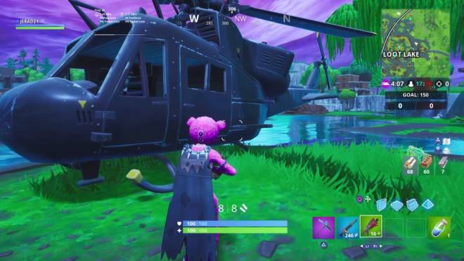 Fortnite: Battle Royale - BREAKING NEWS!!! CHOPPER FOUND AT LOOT LAKE!!! image 1