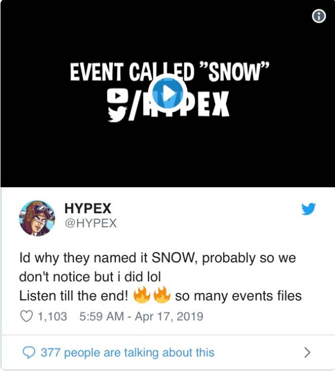 Fortnite: Battle Royale - Leaked - Sleepy 😴, Snow ❄️, & Leaky💧Events Sounds image 3