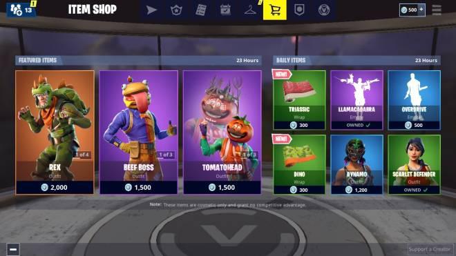 Fortnite: Battle Royale - Today's Item Shop image 2