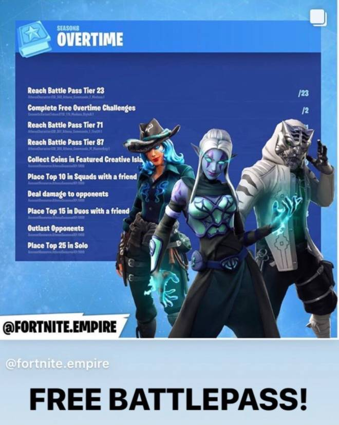Fortnite: Battle Royale - Possible Overtime challenges 💗✨ hopefully the battle pass will be free again 😭🥰 image 2