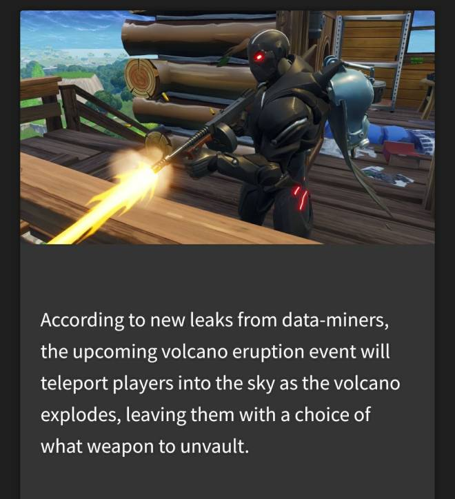 Fortnite: Battle Royale - 🌋 Volcano live event leak 🌋 image 2