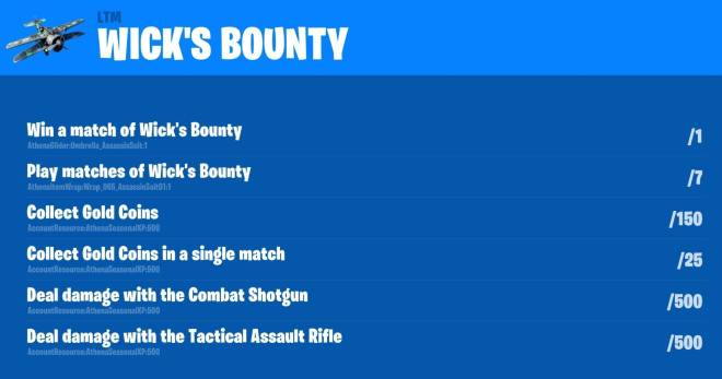 Fortnite: Battle Royale - Leaked John Wick LTM & Challenges image 2