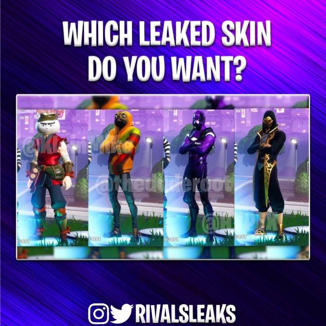 Fortnite: Battle Royale - Which leaked skin would you prefer to buy and why? #fortniteleaks image 1