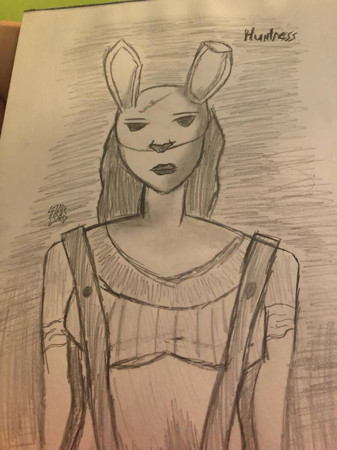 Dead by Daylight: Memes - My drawing of huntress image 1