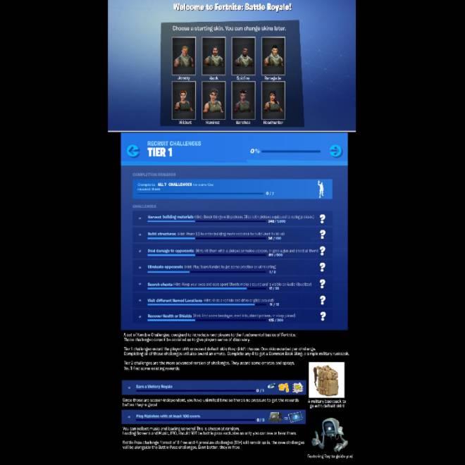 Fortnite: Battle Royale - Beginner Recruit challenges concept! image 1
