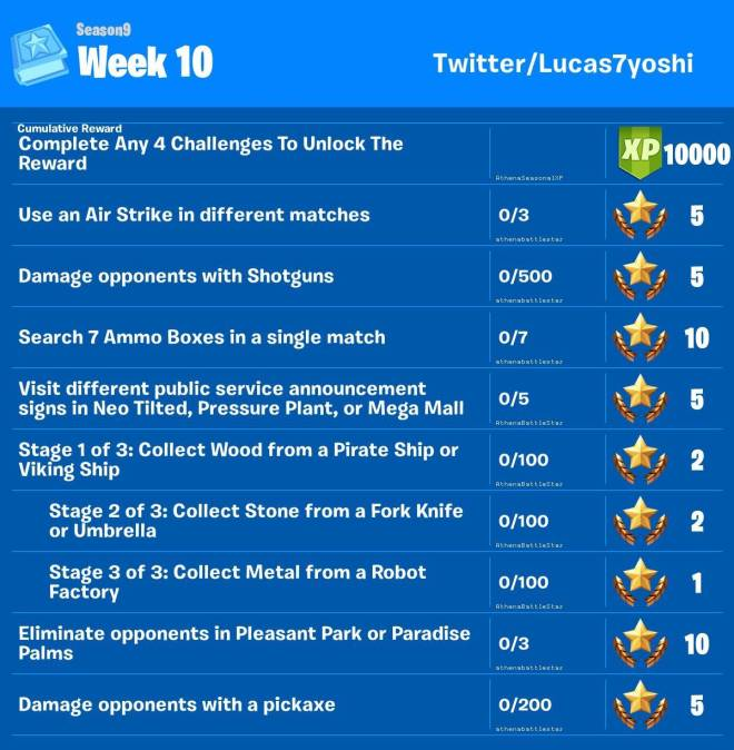 Fortnite: Battle Royale - Week 10 Challenges LEAKED image 2