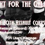 The 20th Assault Corps Needs YOU!