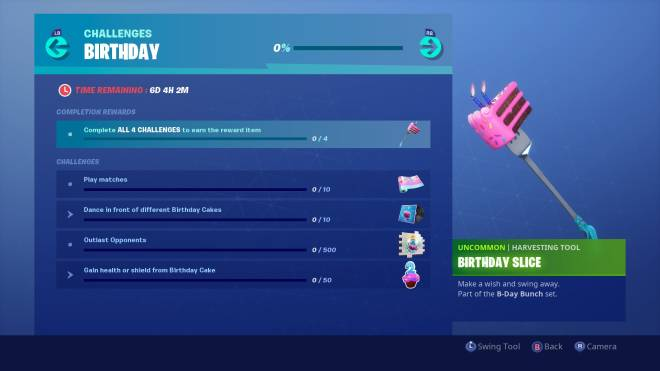 Fortnite: Battle Royale - Birthday challenges are now live! 🥳✨ image 2