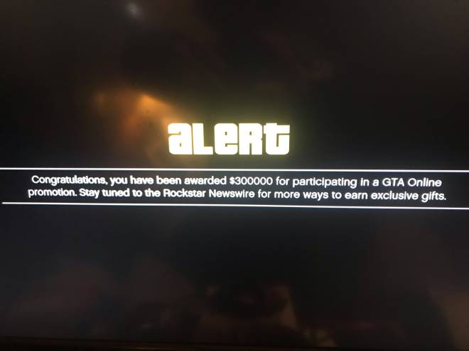 GTA: General - Yeeeet let's go 👌🏻🎈👌🏻 I just got this message before getting on GTA5 online #ps4 #gamerlife image 1