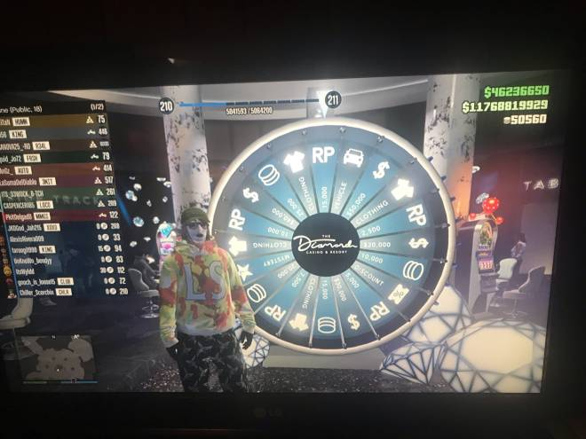 GTA: General - A spin of the wheel & I finally got to lance 210 lvl 🤘🏻🔥☮️ I'm lucky af #casinowheels  image 1