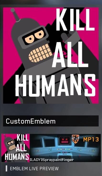 "Call of Duty: General - ""Hey baby, wanna kill all humans?"" -Bender B. Rodriguez  image 3"