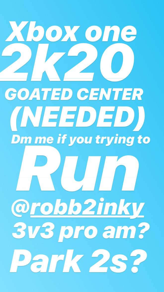 NBA 2K: Looking for Group - Dm me on instagram @robb2inky for the details image 3