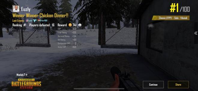 PUBG: PUBG Mobile - Idk why but the #16 seems to be my lucky number when it comes to @PUBGMOBILE 😂 5-0 W/L 58-0 K/D  image 1