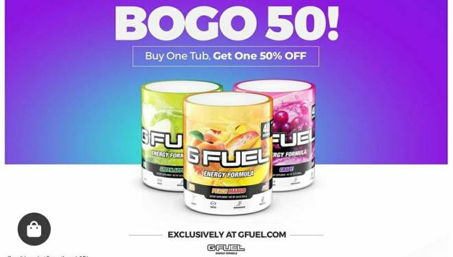 G Fuel: General - Buy one get one 50% off image 1