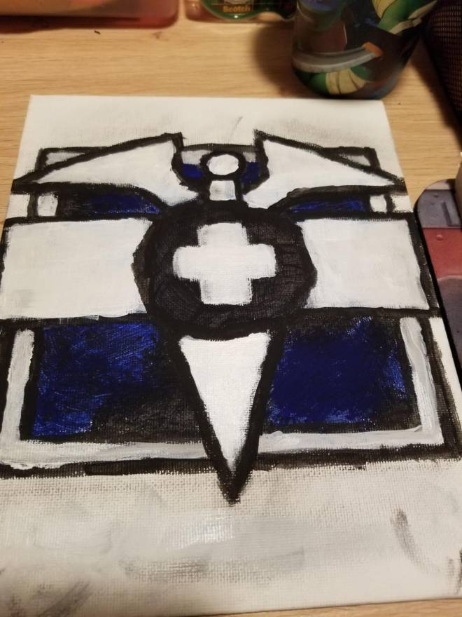 Rainbow Six: Art - Doc logo painting! image 2