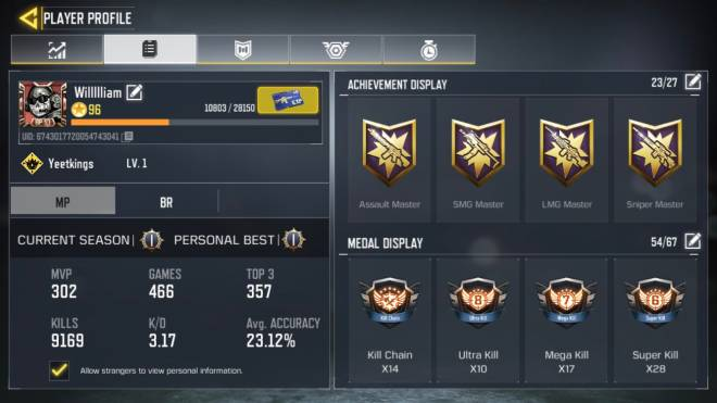 Call of Duty: General - My Stats image 1