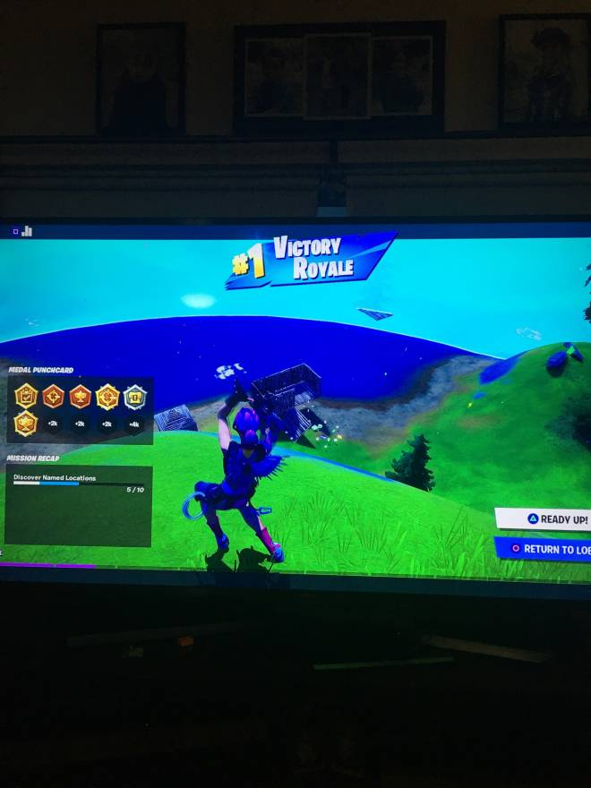 Fortnite: Battle Royale - I got a win in my second match image 1