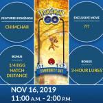 Community Day - Nov. 16th 2019