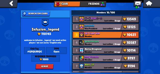 Brawl Stars: General - Any one wanna join were trying to grow just type in Infusion and it will show. Be active image 1