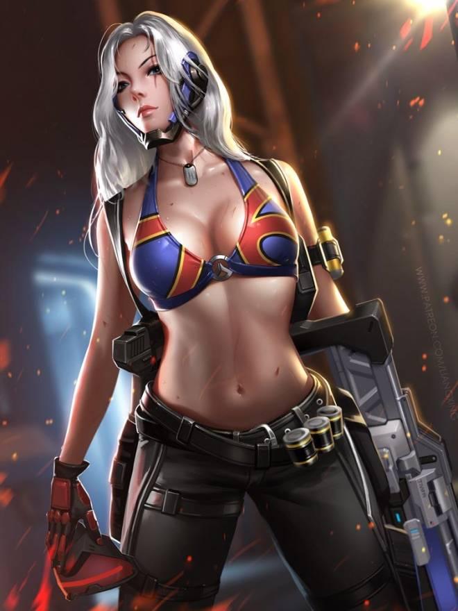 Overwatch: General - Female Soldier 76!!! image 2