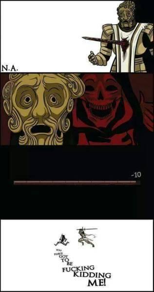 Dark Souls: Memes - Fighting against a Giant dad in Dark souls 1 be like image 2