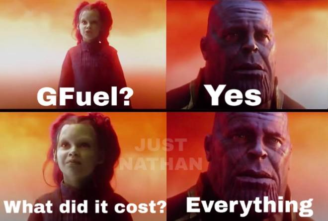 G Fuel: General - The price GFuel lovers pay... image 1