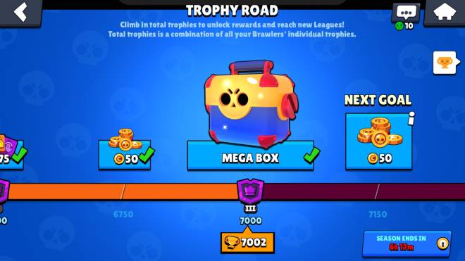 Brawl Stars: General - Who has 7000 trophies and 1 Mithic and legandary  image 1