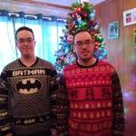 Tree decorated✓ ulgy Christmas sweaters on✓